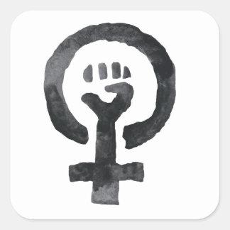 Etiquetas feministas do ícone do punho