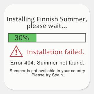 Etiquetas finlandesas engraçadas do verão