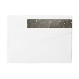 Etiquetas Flocos de neve e envoltório das estrelas em torno