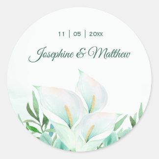 Etiquetas florais do casamento de Lilly do Calla