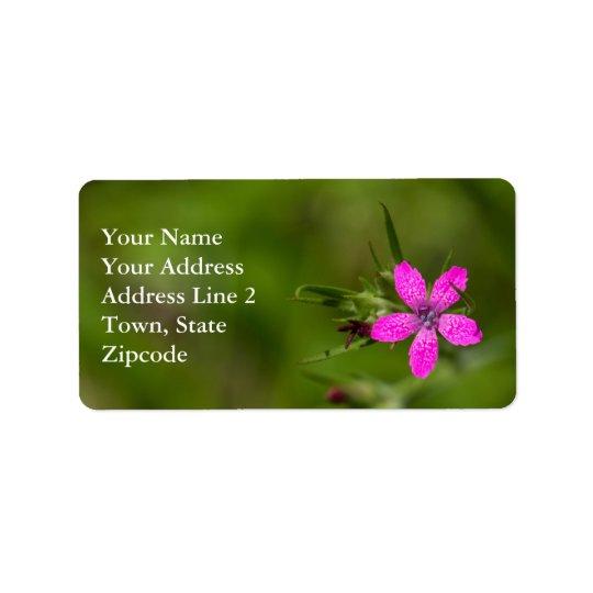 Etiquetas florais do Wildflower cor-de-rosa de