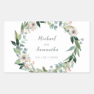 Etiquetas florais elegantes do casamento da