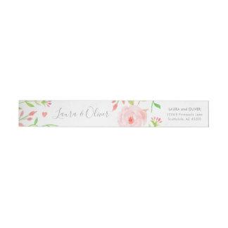 Etiquetas Floral doce Envoltório-Em torno do rosa da