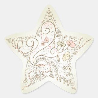 Etiquetas floridos da estrela