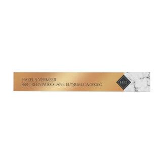 Etiquetas Folha elegante do mármore & do cobre