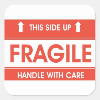 Etiquetas frágeis do sinal