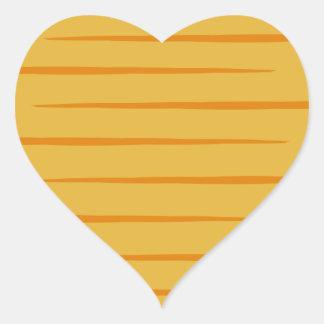 Etiquetas Gato malhado-Listradas alaranjadas Adesivo Coração