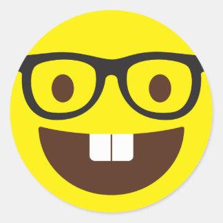 Etiquetas Geeky bonitos de Emoji