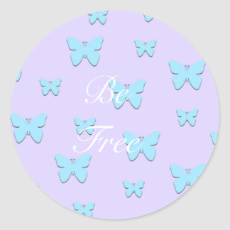 Etiquetas gráficas Pastel bonito da borboleta