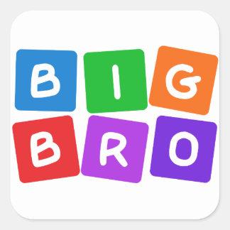 Etiquetas grandes de Bro Adesivo Quadrado