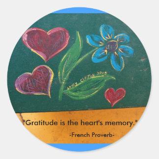 Etiquetas/gratitude Adesivo