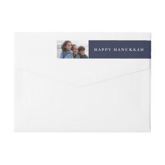 Etiquetas Hanukkah feliz | sua foto no azul do feriado