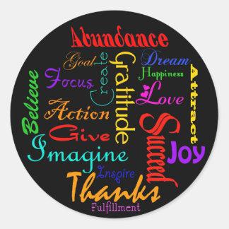 Etiquetas inspiradores da colagem da palavra