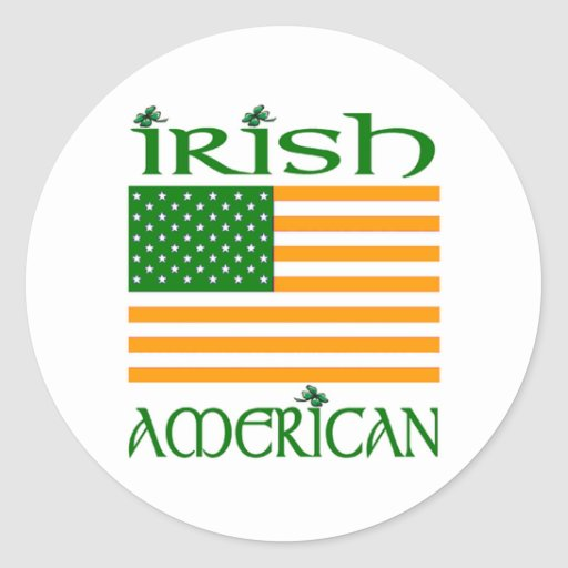 Etiquetas irlandesas adesivo redondo