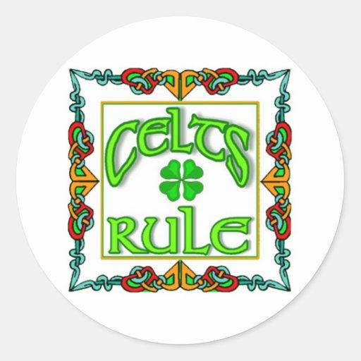 Etiquetas irlandesas adesivos em formato redondos
