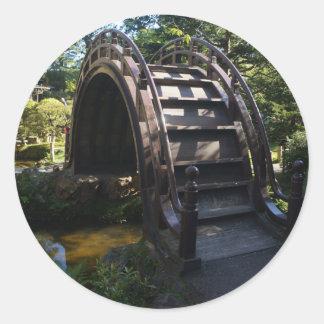 Etiquetas japonesas da ponte do cilindro do jardim adesivo