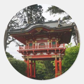 Etiquetas japonesas da porta #2 do templo do