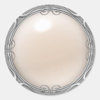 Etiquetas Jeweled creme da pérola