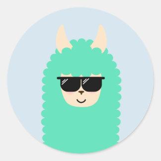 Etiquetas legal do gajo de Emoji do lama