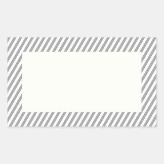 Etiquetas listradas cinzentas customizáveis adesivo retangular