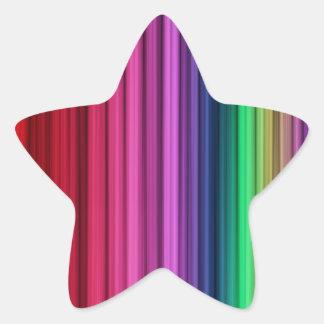Etiquetas listradas da estrela do arco-íris adesivos estrelas