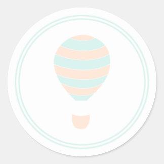 Etiquetas listradas do balão de ar quente adesivo