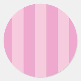 Etiquetas listradas do cupcake cor-de-rosa adesivos redondos