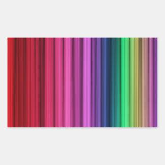 Etiquetas listradas do retângulo do arco-íris adesivos em formato retangulares