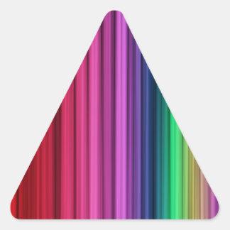 Etiquetas listradas do triângulo do arco-íris adesivo triângulo