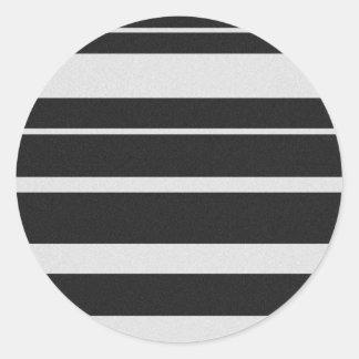 Etiquetas listradas preto e branco adesivos redondos