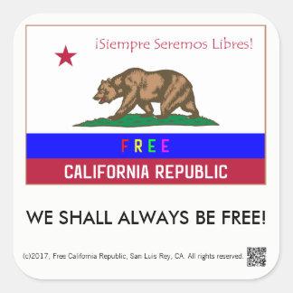 Etiquetas livres do quadrado da república de