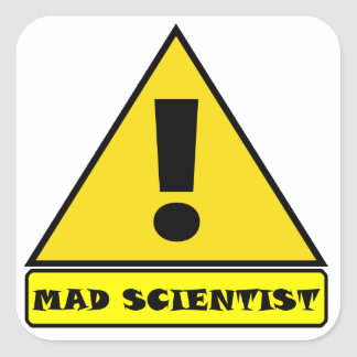 Etiquetas loucas do cientista
