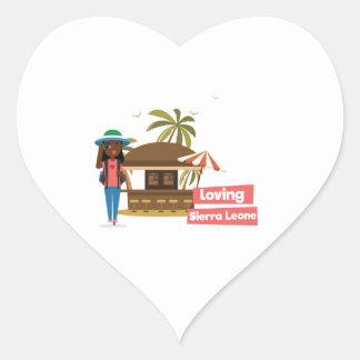Etiquetas Loving do coração do Sierra Leone