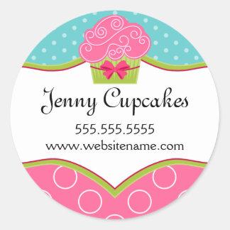 Etiquetas lunáticas da padaria do cupcake adesivo