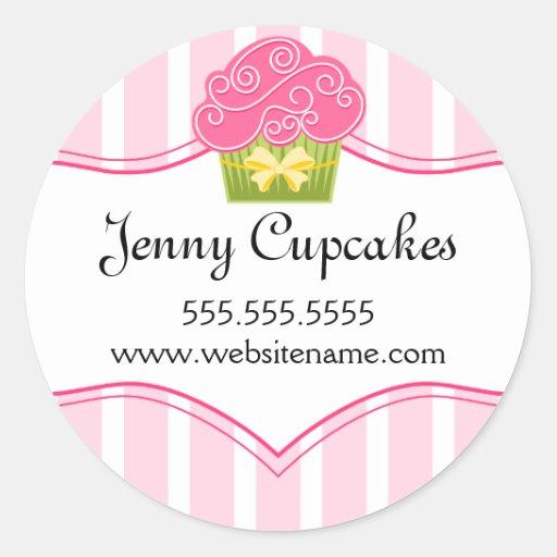 Etiquetas lunáticas da padaria do cupcake adesivo em formato redondo
