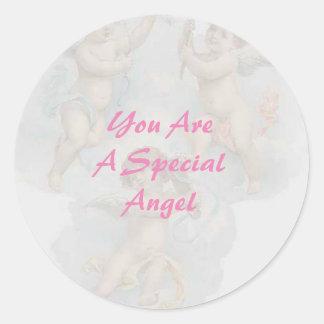 Etiquetas lustrosas do anjo especial adesivo