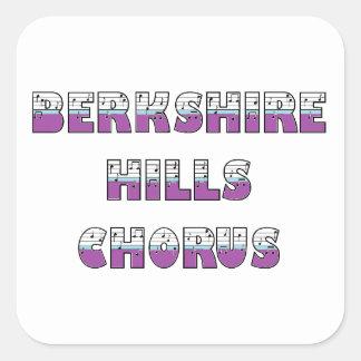 Etiquetas lustrosas do coro das colinas de adesivo quadrado