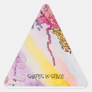 Etiquetas lustrosas pequenas do triângulo com