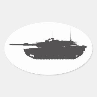 Etiquetas M1A1 e decalques Adesivo Oval