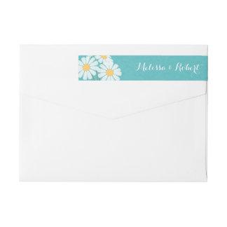 Etiquetas Margaridas brancas florais elegantes que Wedding