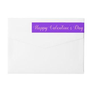 Etiquetas Minimalista violeta do dia dos namorados