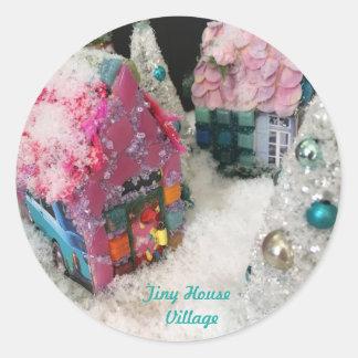 Etiquetas minúsculas da vila da casa