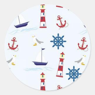 Etiquetas modeladas náuticas do veleiro