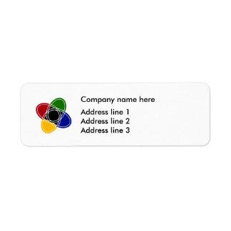 Etiquetas modernas do modelo do endereço do etiqueta endereço de retorno