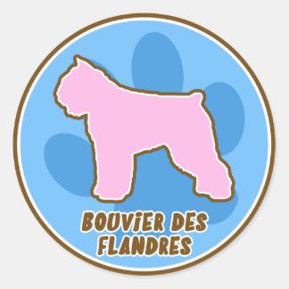 Etiquetas na moda do DES Flandres de Bouvier Adesivo