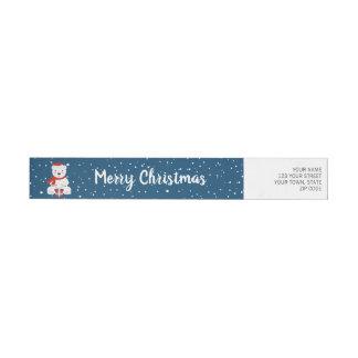 Etiquetas Natal Snowbear