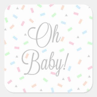 Etiquetas neutras do bebê do género, quadrado