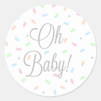 Etiquetas neutras do bebê do género, redondas