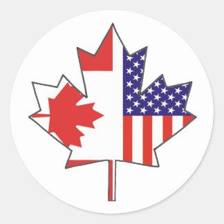 Etiquetas nortes do dia de Canadá da equipe