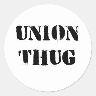 Etiquetas originais do vândalo da união adesivos em formato redondos